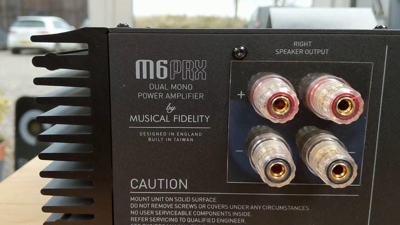 musical fidelity m6 prx power amplifier youtube