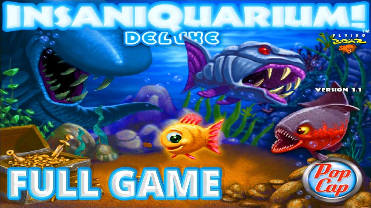 Insaniquarium Deluxe - Full Game 1080p60 HD Walkthrough - No Commentary