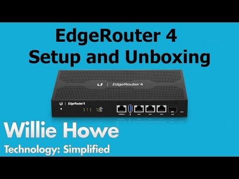 EdgeRouter 4 Setup & Unboxing - YouTube