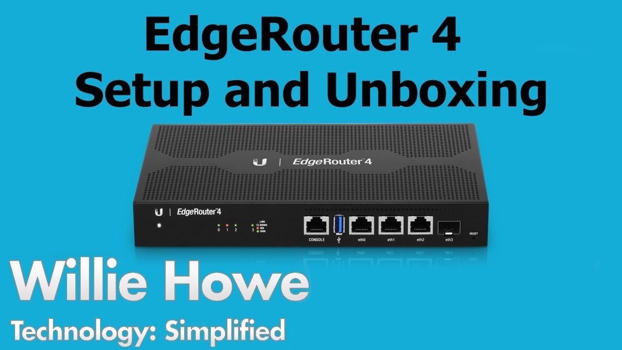 EdgeRouter 4 Setup & Unboxing