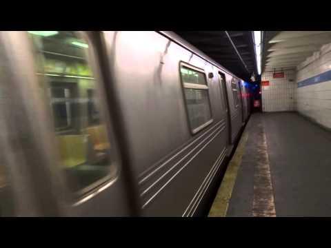 IND 6th Avenue Express: Brooklyn bound R-46 R express train @ Grand Street!