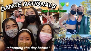 GRWM+VLOG: DANCE NATIONALS *high school team* | Nicole Laeno