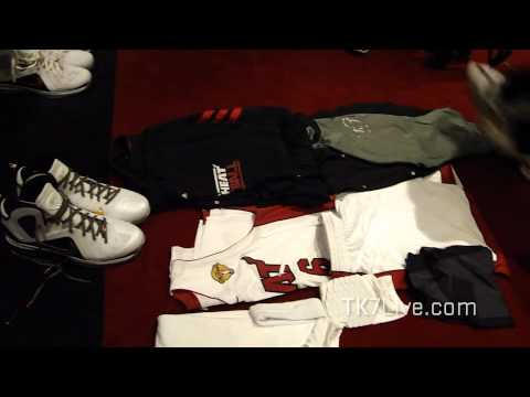 LeBRON JAMES Locker Room Pre Game 5 NBA Finals 2012