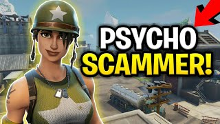 Psycho Savage Loses Loads of 130s! (Scammer Gets Scammed) Fortnite Save The World
