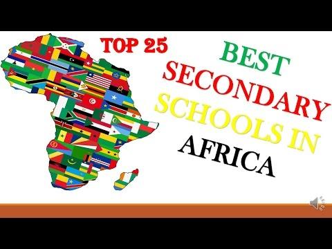 Top 25 Secondary Schools in Africa 2016-2017