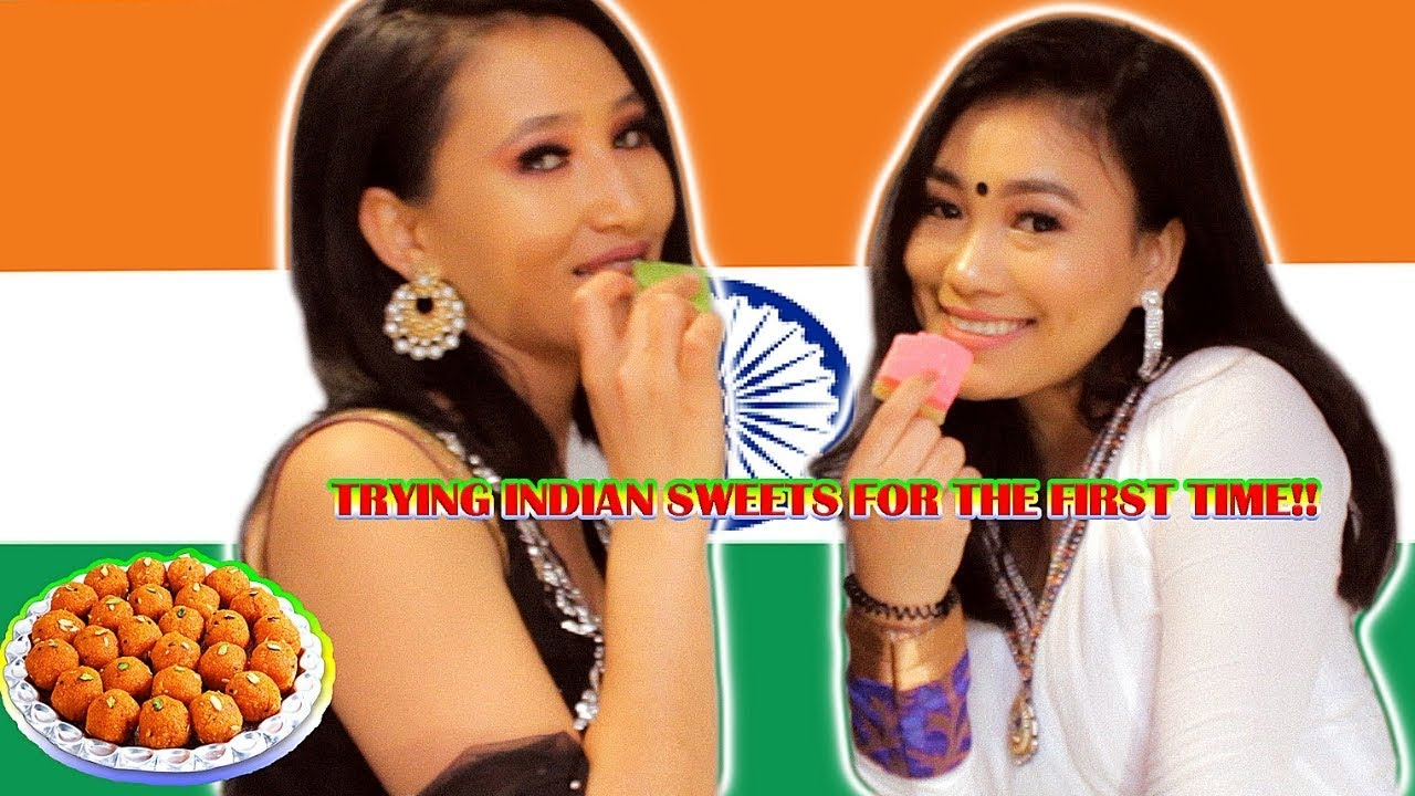 TRYING INDIAN SWEETS FOR THE FIRST TIME ( DIWALI SPECIAL) !!!