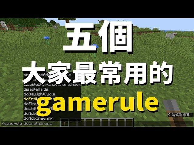 Minecraft 遊戲規則 由我來定 常用的五個gamerule指令