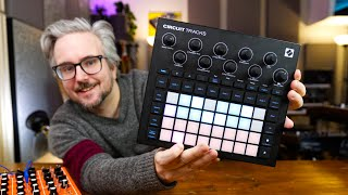 Novation CIRCUIT TRACKS — NEW improved design, MIDI SEQUENCER & audio inputs!