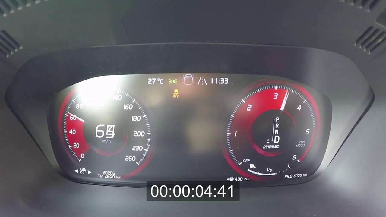 2019 Volvo XC60 D5 235 HP Acceleration 0-100 km/h