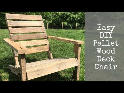Easy DIY Pallet Wood Deck Chair