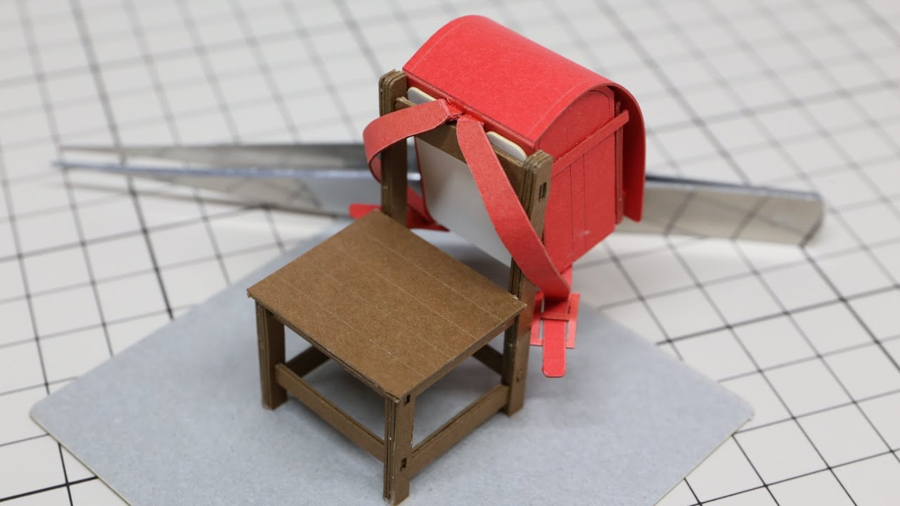Chair Bags For School Pattern Red Kitchen Table And Chairs Miniature Bag Paper Craft  ミニチュア 椅子と