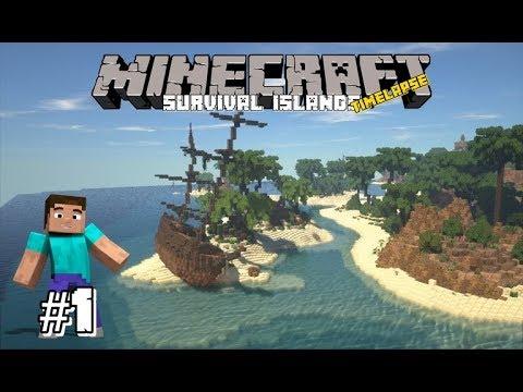 HARI PERTAMA TERSESAT DI PULAU - Minecraft Timelapse Survival Island Indonesia