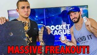 VIDEO GAME RAGE QUIT PRANK! (DESTROYS FURNITURE!)