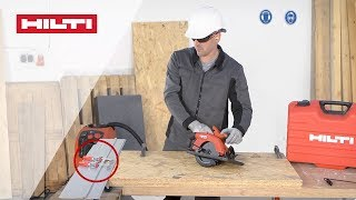 HOW TO use your Hilti SC 55W Circular Saw with the Guide Rail