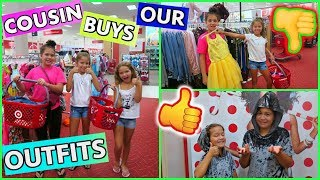 """COUSIN BUYS OUR OUTFITS AT TARGET CHALLENGE """"SISTER FOREVER """""""