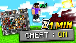 Minecraft MAIS un cheat s'active toutes les minutes !
