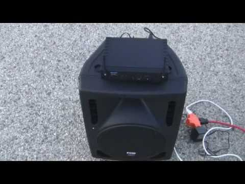Wireless DJ Active Speakers Do it From Scratch with DJ Mikey Mike Gemini UHF & Line6