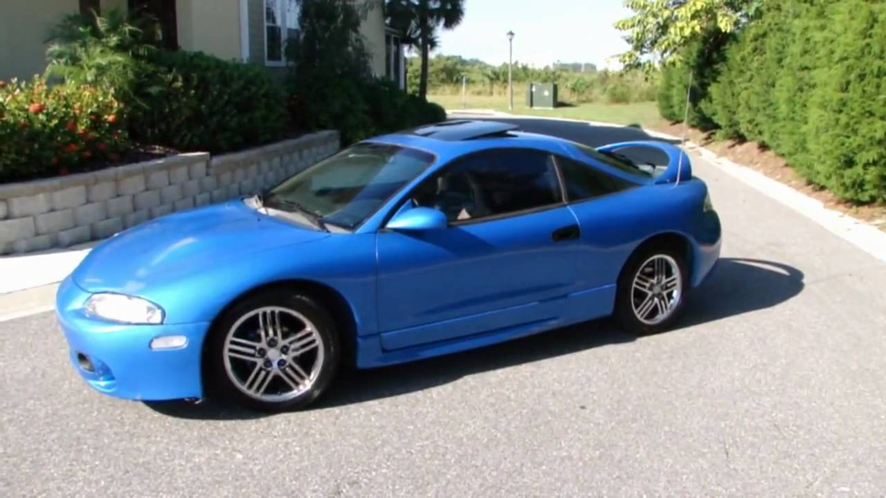 1997 Mitsubishi Eclipse GST blue - FOR SALE - YouTube
