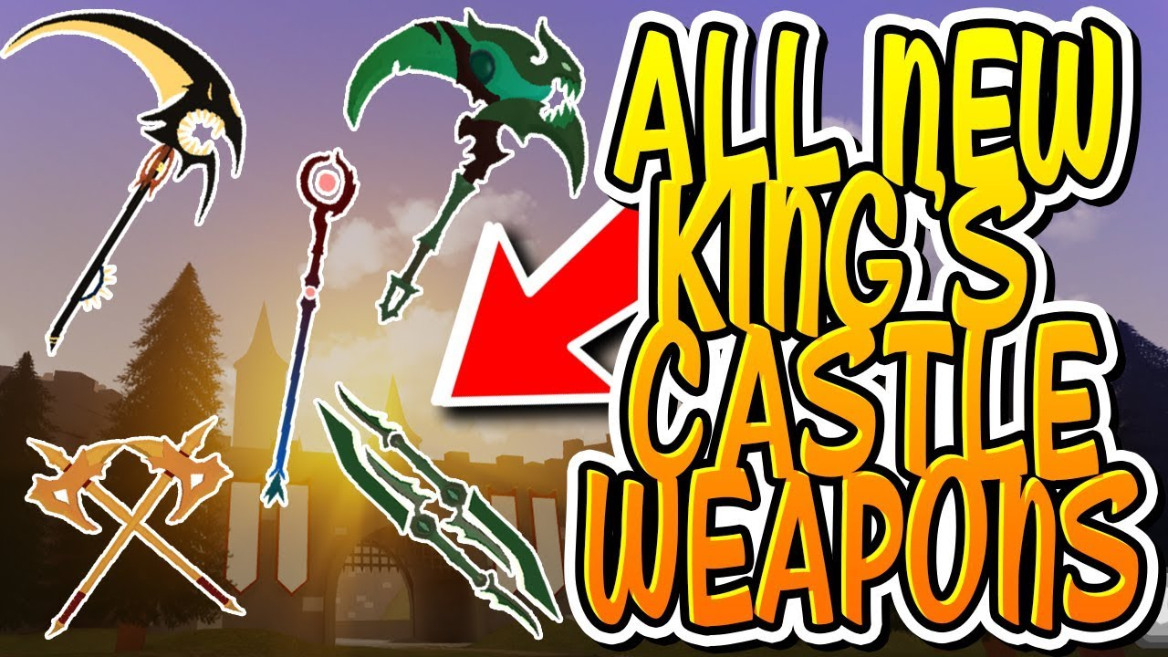 All New King S Castle Weapons In Dungeon Quest Roblox Youtube