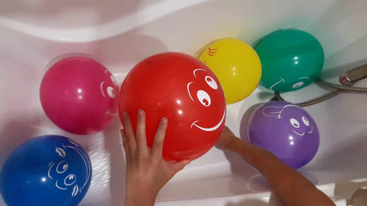 Развивающее видео Для детей Учим цвета Взрываем воздушные ...