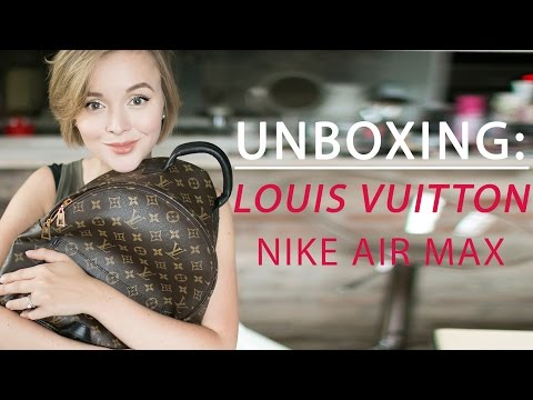 ПОКУПКИ: РЮКЗАК МЕЧТЫ LOUIS VUITTON PALM SPRINGS BACKPACK UNBOXING. NEW NIKE AIR MAX.