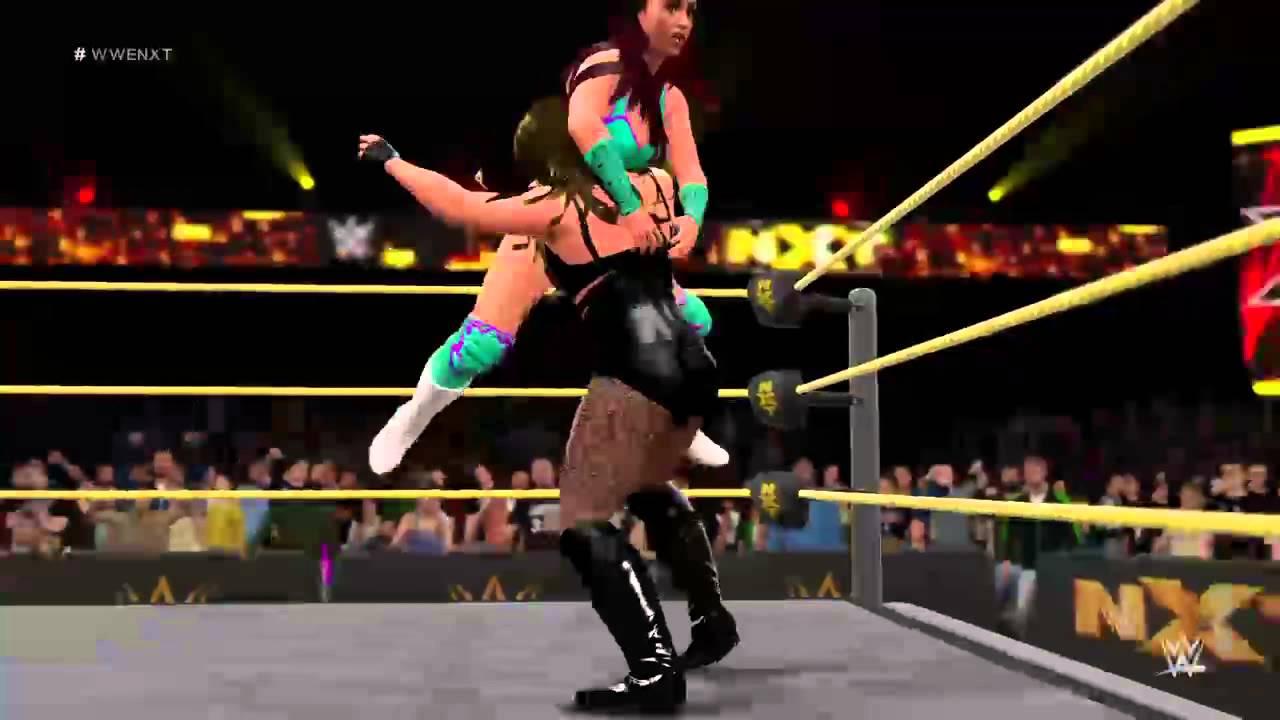 WWE 2k16 NXT Peyton Royce vs Kaitlyn - YouTube