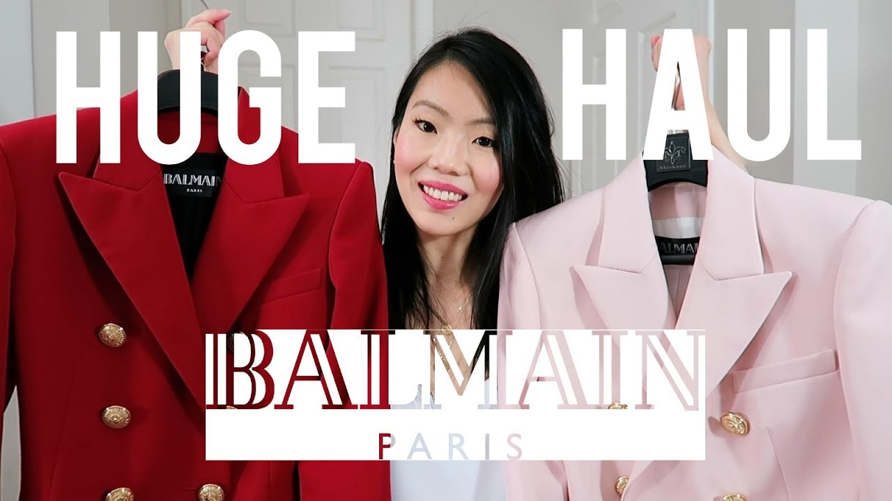 b7b1848b BALMAIN BLAZER HAUL & MORE! (Sizing, Style, Material & Try-On ...