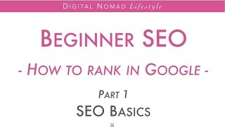 Beginner SEO How to rank in Google | Part 1