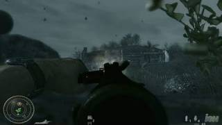 Call of Duty: World at War PC Games Gameplay - Melee to the Face (PC)