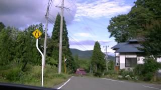 ホンダ ホーネット250 福島県道338号上郷下野尻線