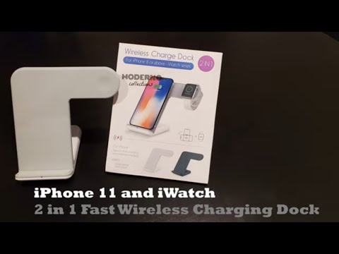 IPhone 11 And IWatch Fast Wireless Charger Dock By Moderno Collections