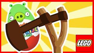 Злые Птички. Киндер сюрприз. Игрушки. Angry Birds Telepods. Мультик со свинками. Энгри Бёрдс