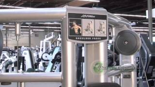 Used Life Fitness Signature Series Cable Motion Shoulder Press Circuit Machine For Sale