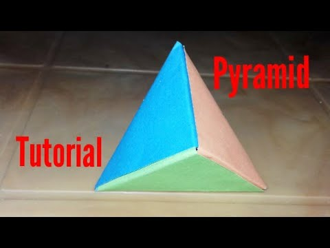 How to make a colour paper pyramid/DIY pyramid tutorial/Crafts for kids