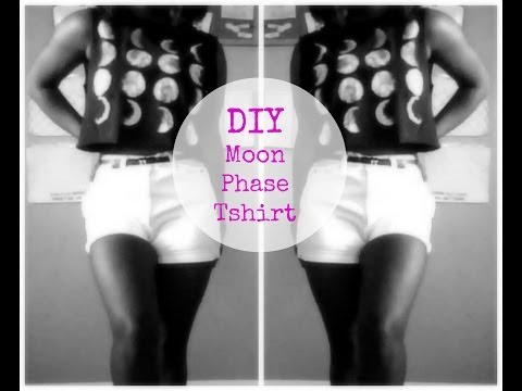 DIY: Moon Phase T Shirt | 2013 Simple DIY (No Sew)