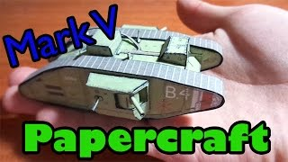 tanque Mark V | papercraft