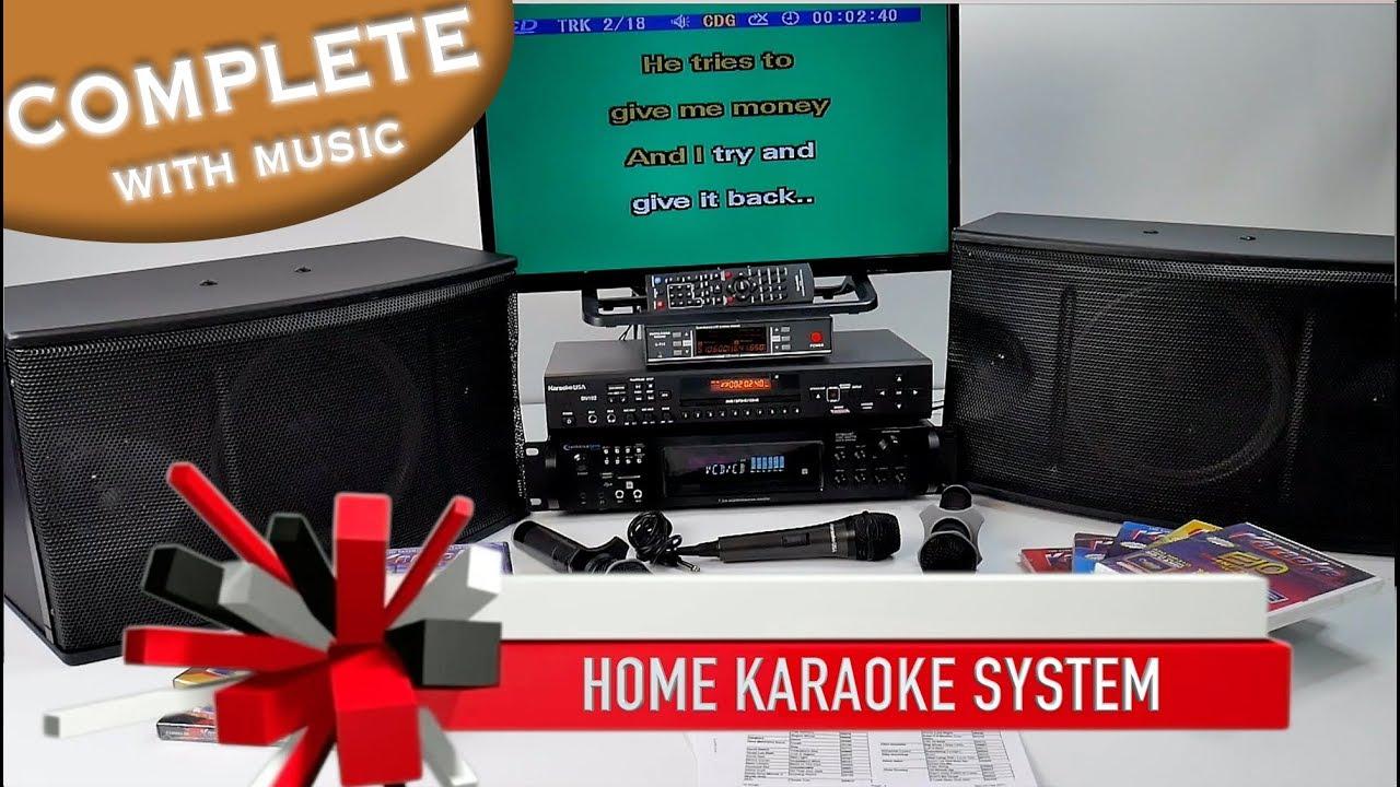 karaoke system complete professional karaoke amp mics 4 500 rh youtube com