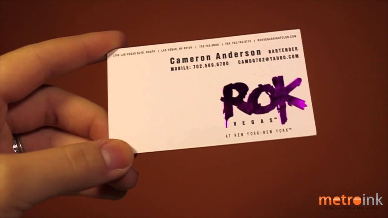 Metroink Foil Stamp Business Card Rok Vegas - YouTube