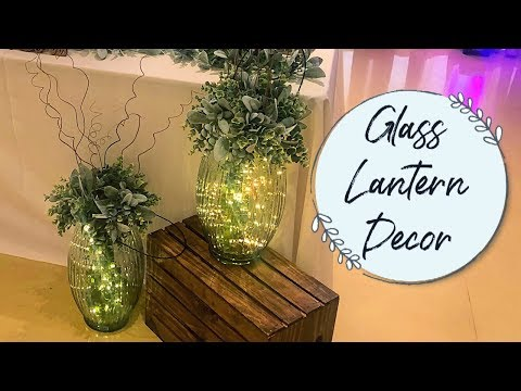Tall Glass Lantern | Wedding DIY Idea