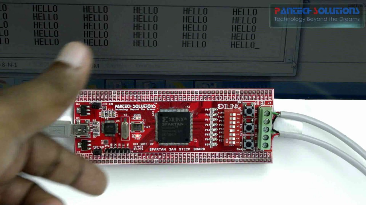 FPGA Implementation of Multi Channel UART using Spartan3an FPGA Project Kit  a