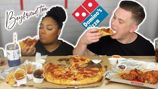 DRUNK DOMINOS PIZZA MUKBANG  + BOYFRIEND TAG!!