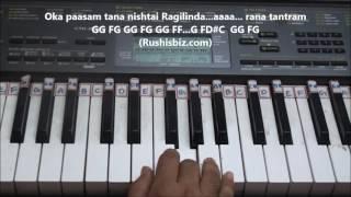 Oka Praanam (Shivam song) Piano Tutorials - Baahubali 2 (Telugu) | DOWNLOAD NOTES FROM DESCRIPTION