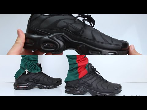 Nike Air Max Plus Triple Black Unboxing On Feet Youtube
