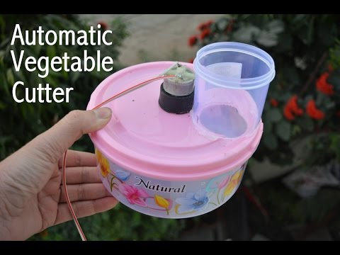 How to Make Automatic Vegetable cutter  - at Home