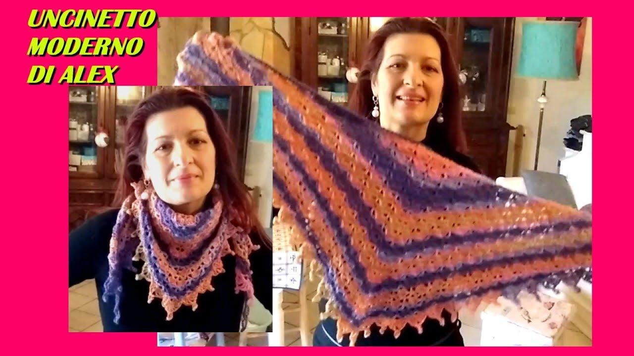 Crochet Baktus Scarf Easy Virus Tutorial Youtube