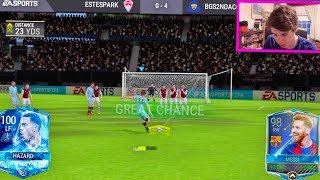 THE BEST PLAYER IN FIFA MOBILE w/ GAMEPLAY!!! 100 OVR HAZARD!!   FIFA Mobile iOS