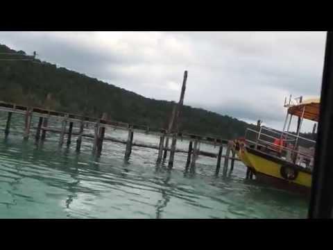 High Speed Ferry departing Koh Rong Samloem