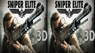 3D VR TV video Sniper Elite V2 Side by Side SBS google cardboard