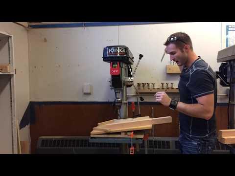 Stool - Drilling the Angled Leg Holes