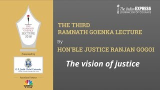 Third Ramnath Goenka Lecture by Hon'ble Justice Mr. Ranjan Gogoi